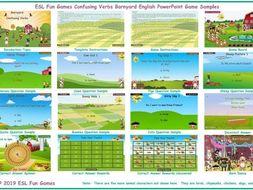 Confusing Verbs Barnyard English PowerPoint Game