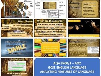AQA 8700 GCSE English Language - AO2 - Analysis using Flash Fiction