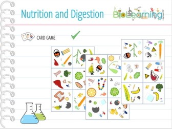 Nutrition and Digestion - Card Game