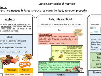 KS4  Food Preparation and Nutrition Knowledge Organiser Section 2: Principles of Nutrition