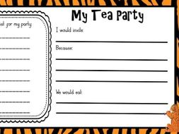 The Tiger who came to tea planning and templates