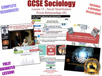 Power Relationships (II) - Social Stratification -L13/20 [ AQA GCSE Sociology - 8192] Dynamics