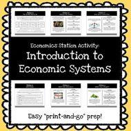 Economics Stations Activity - Economic Systems *Print & Go Prep*