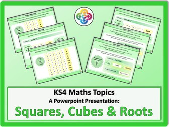 Squares, Cubes and Roots KS4