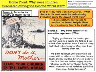 Why were children evacuated during the Second World War?