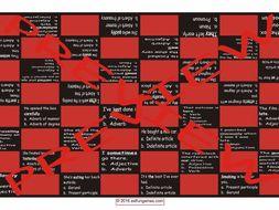 Parts of Speech Checker Board Game