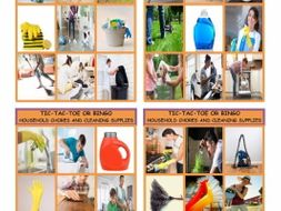 Household Chores and Cleaning Supplies Tic-Tac-Toe or Bingo