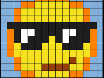 Colouring by Trig Ratios, Cool Emoji (Solo Mosaic)