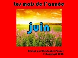 French: Months of the year, weather and the season summer - June (Key Stage 2)
