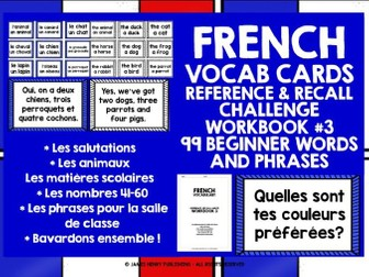 FRENCH VOCABULARY CARDS 3