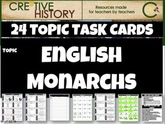 English Monarchy - Task Cards