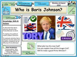 Boris Johnson PM + Politics