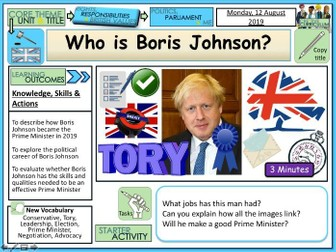 General election 2019 + Boris Johnson PM + Politics