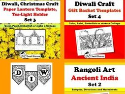 Diwali Art and Craft Project and Bulletin Board Display Bundle