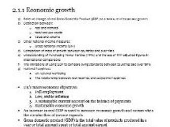 Edexcel Economics AS-level Unit 2.1 Measures of economic performance