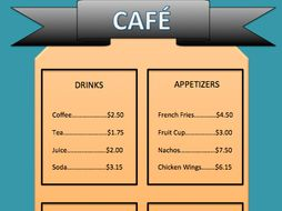 Restaurant Activity Find Tip and Tax-Proportions
