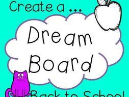 Back to school- Dream board/Vision board activity