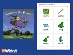Room on the Broom - Big Book Flashcards with Widgit Symbols