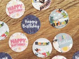 Sticker Templates. Plain and Birthday