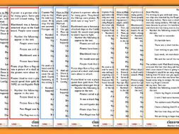 KS1 SATs Reading Practice Number the Events