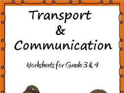 transport and communication worksheets for grade 3 4 by ritureddi teaching resources. Black Bedroom Furniture Sets. Home Design Ideas