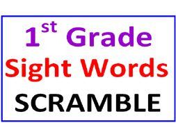 First Grade Sight Words SCRAMBLE (15 worksheets):