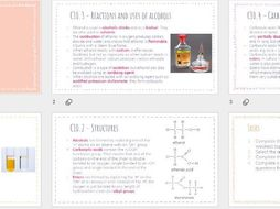 AQA GCSE Chemistry - Organic Reactions revision powerpoint
