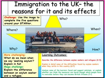 Immigration Reasons + Effects  Edexcel Citizenship