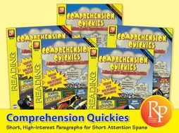 Comprehension Quickies {Bundle}