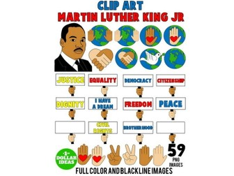 MARTIN LUTHER KING JR CLIPART | MARTIN LUTHER KING ACTIVITIES | MLK | 59 IMAGES