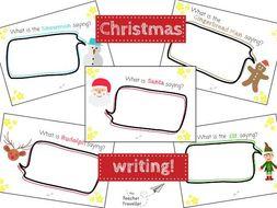 Christmas Speech Bubble Writing Set