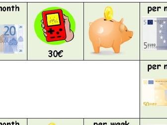 Pocket Money/Taschengeld/argent de poche Board Game