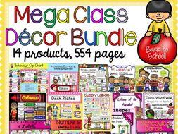 BACK TO SCHOOL CLASS DECOR {MEGA BUNDLE}