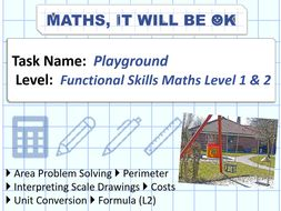 FS Maths Level 1 and 2 - Scale - Playground - Exam Style