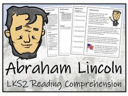 LKS2 History - Abraham Lincoln Reading Comprehension Activity