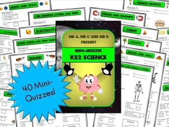 BUNDLE - KS2 Science Mini-Quizzes / Multiple Choice Assessment