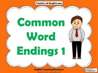 Common Word Endings