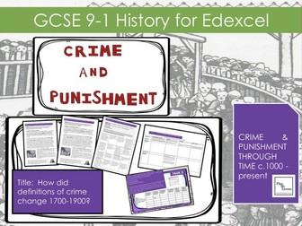 Edexcel GCSE 9-1 Crime & Punishment:  L16 How did definitions of crime change c.1700 – c.1900?