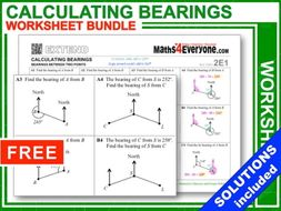 Calculating Bearings (Worksheets with Answers)