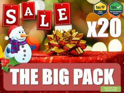 The Massive English Literature Christmas Collection! [The Big Pack] (Christmas Teaching Resources, Fun, Games, Board Games, P4C, Christmas Quiz, KS3 KS4 KS5, GCSE, Revision, AfL, DIRT, Collection, Christmas Sale, Big Bundle] English Literature