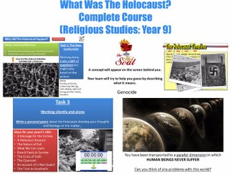 KS3  - 'What Was The Holocaust?' [Complete 9 Lesson Unit]