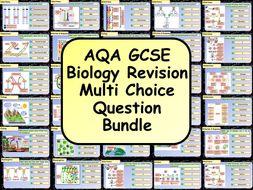 KS4 AQA GCSE Biology (Science) Multiple Choice Question Bundle