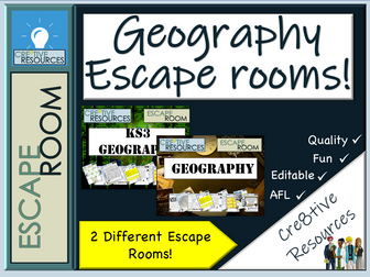 Geography Escape Rooms - End of Term