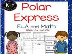Polar Express ELA and Math Printables