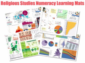 Numeracy in RE [4xA3 Learning Mats / Displays / Posters] [Numeracy] RE RS