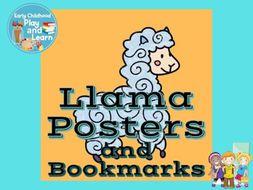 Llama Classroom Posters