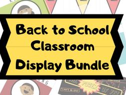 Back to School Classroom Display Bundle