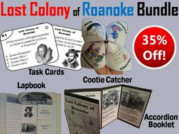The Lost Colony of Roanoke Task Cards and Activities Bundle