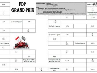 FDP Conversion Game (Fractions, Decimals, Percentages)