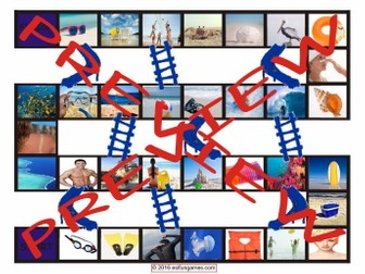 Beaches Chutes and Ladders Board Game